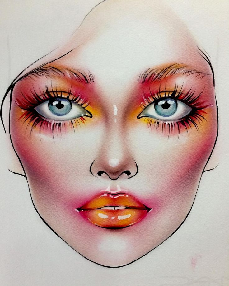 Artistic Editorial Face chart