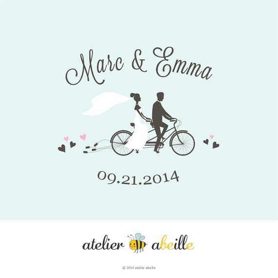 Custom Wedding Monogram Logo Save the Date by atelierabeille
