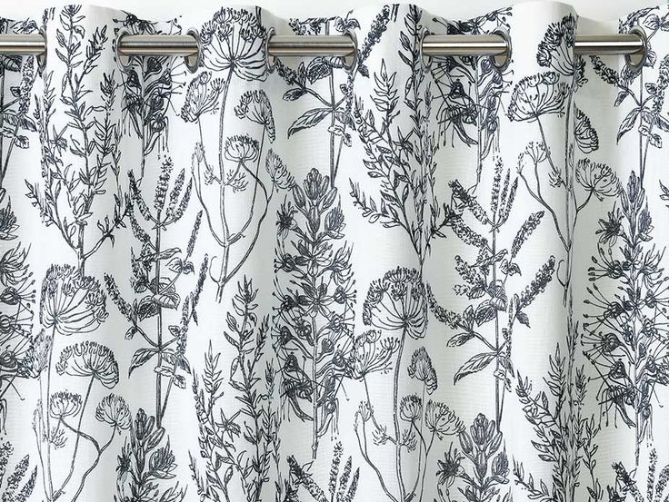Wildflower Blue Eyelet Curtains