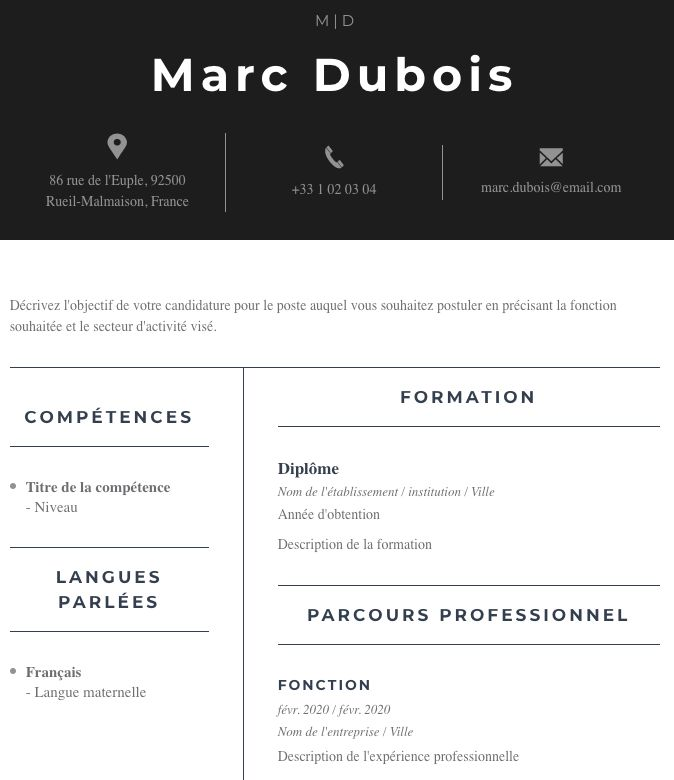 Modern Resume Template Resume Template Free Resume Template Resume Tips