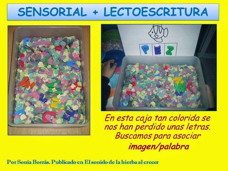 http://elsonidodelahierbaelcrecer.blogspot.com.es/2014/02/caja-sensorial-encuentraletras.html Caja sensorial y letras