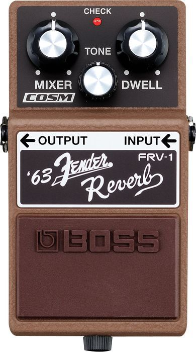 Boss FRV-1 '63 Fender Reverb Guitar Effects Pedal -- this is a spot on digital recreation -- If you love Boss pedals and Fender amps, you owe it to yourself to check this out