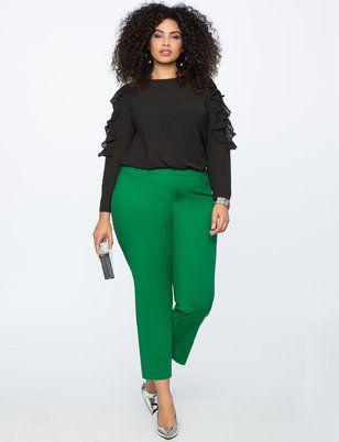 Kady Fit Double-Weave Pant | Women's Plus Size Pants 2