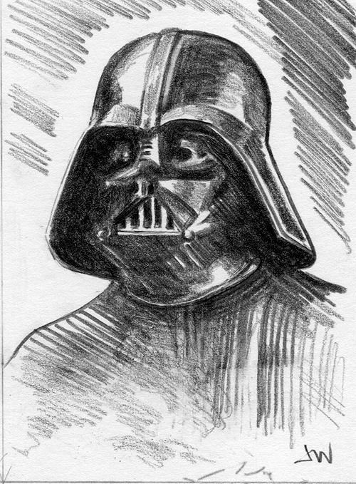 Darth Vader Star Wars ACEO Sketch Card by Jeff Ward #starwars #sketchcard