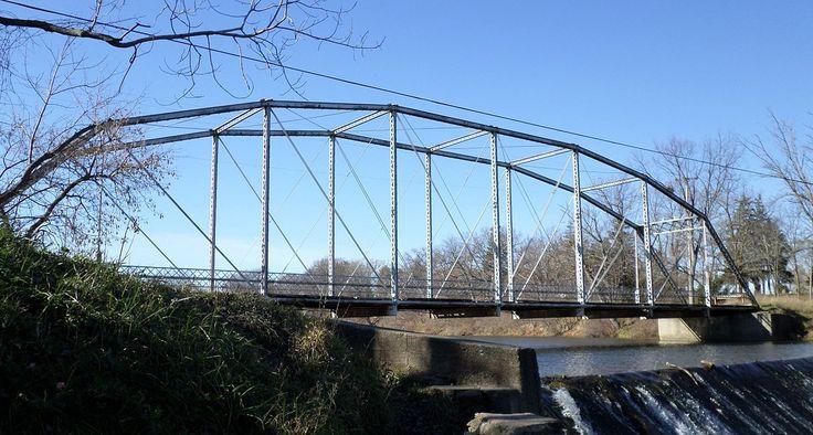Grist Mill Bridge, Dam and Mill Site in Clinton County, Michigan.