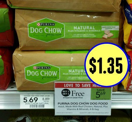Purina Dog Chow Dog Natural Coupon To Print For The Publix BOGO – Just $1.35 Per Bag