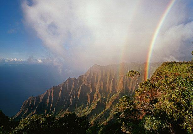 Na Pali Coast Kaua'i Rainbos every day...heaven on earth!