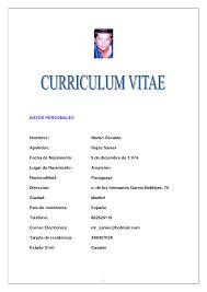 Modelo De Curriculum Vitae Simple