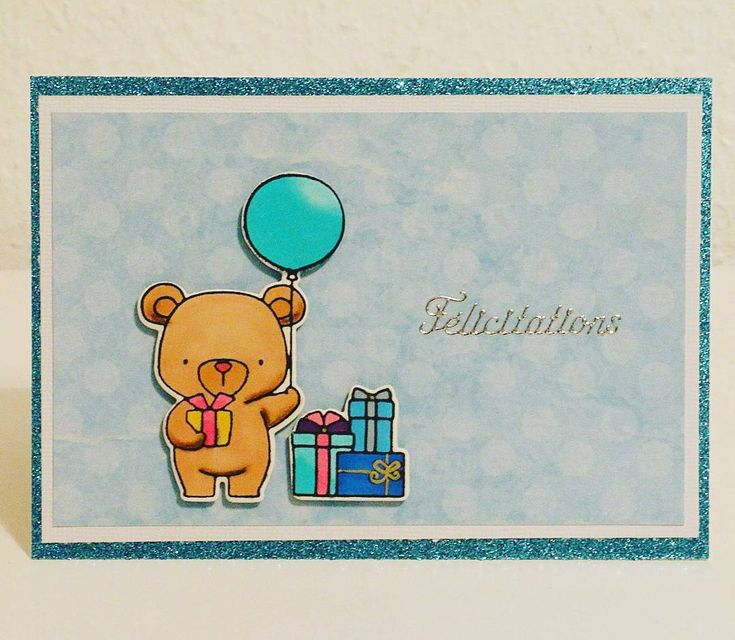 "14 mentions J'aime, 1 commentaires - Tatiana C. Geneva (@clerc_de_lune) sur Instagram : ""#clercdelune #cartescreatives #felicitations #bear #cards #ours #stamps #balloon"""
