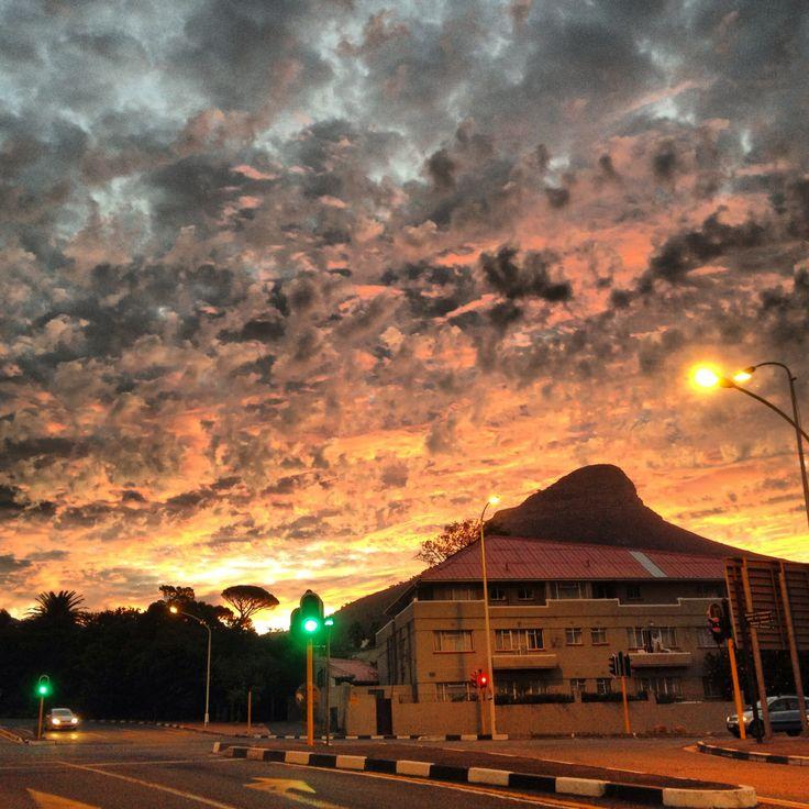 City sunset, Autumn Equinox 2014