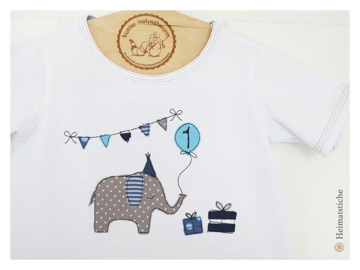 Stickmuster - Stickdatei 13x18 Elefanten Party Fransen Doodle - ein Designerstück von Heimatstiche bei DaWanda