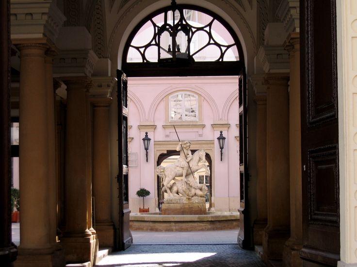 Building entrance in Bratislava