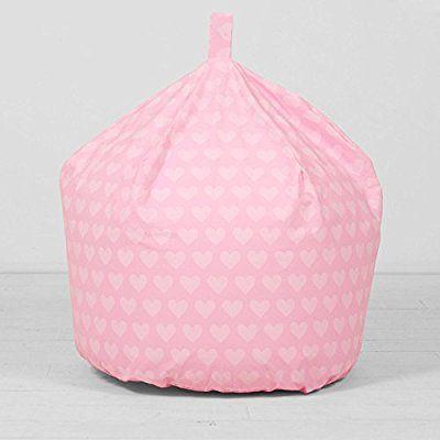 Large Childrens Pink Hearts Cotton Seat Chair Beanbag Bean Bag With Filling Amazonco