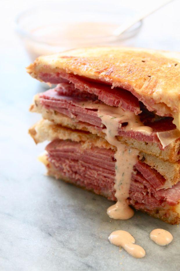 Corned Beef Sandwich With Copycat Groucho S Sauce