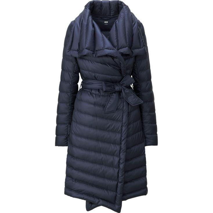 Women Ultra Light Down Wrap Coat Uniqlo Fall Winter