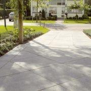 Concrete with pattern driveway