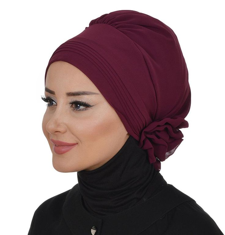 Instant Chiffon Turban Hijab HT-0031 Plum