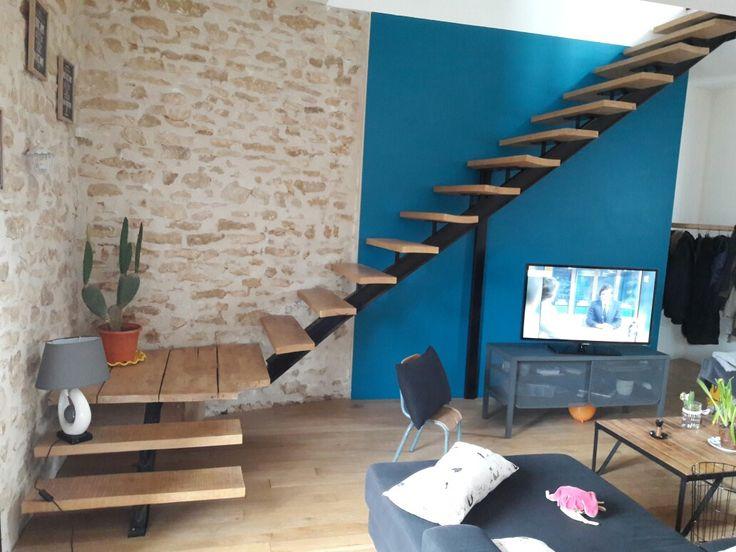 escalier en ipn a pinterest mezzanine staircases and pallets. Black Bedroom Furniture Sets. Home Design Ideas