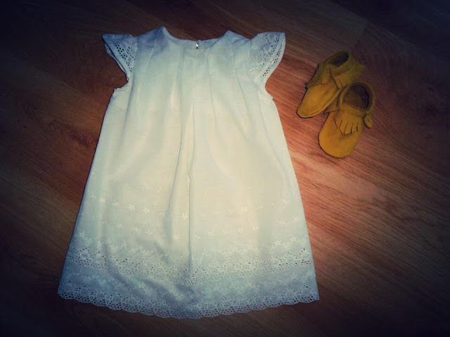 White Lace Toddler Dress
