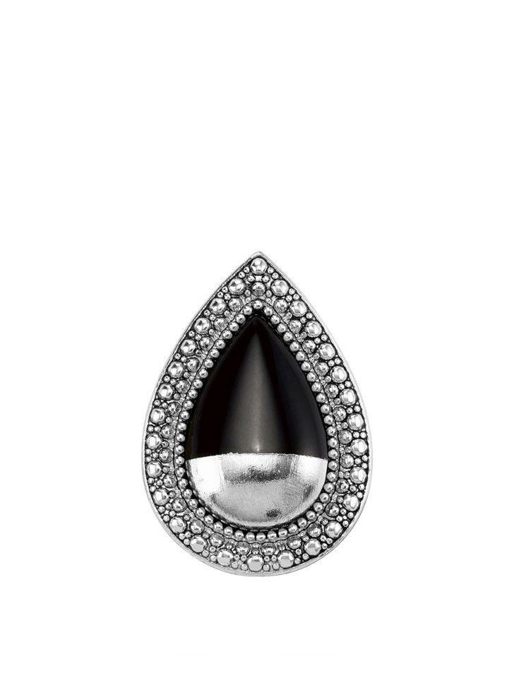 Samantha Wills - Bohemian Bardot Ring - Silver Dipped Onyx - $129.00