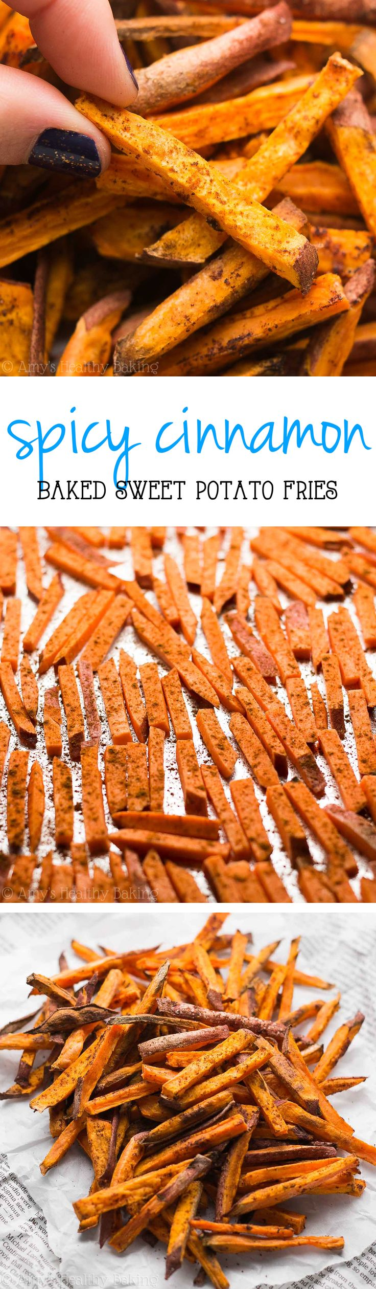 The absolute BEST baked sweet potato fries! You won't be able to stop eating these! Just 4 ingredients & so easy!