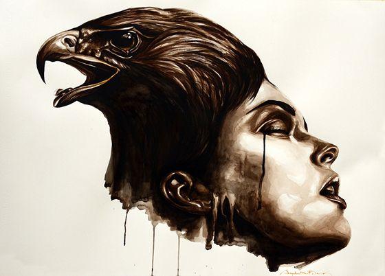 """"""" HOLLO """" - Watercolor - 60x80 - 2012 - Angela Di Folco"""