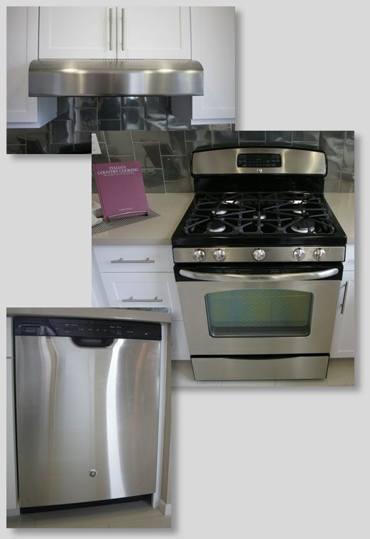 Black Appliance Kitchen Remodel