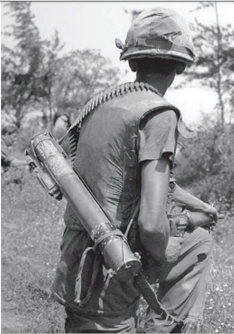 The 66mm M72 LAW was adopted in 1963, first seeing combat in Vietnam. While such weapons are last-resort measures for defence against tanks, theyhave other uses. The M72, for example, was employed against  defended buildings, field fortifications, soft-skin vehicles, troops in the open (for whichshaped charges are of limited effectiveness) and even as an anti-sniper weapon. Barrage-fired into dense vegetation concealing enemy troops, they proved to be an effective means of suppressive fire.
