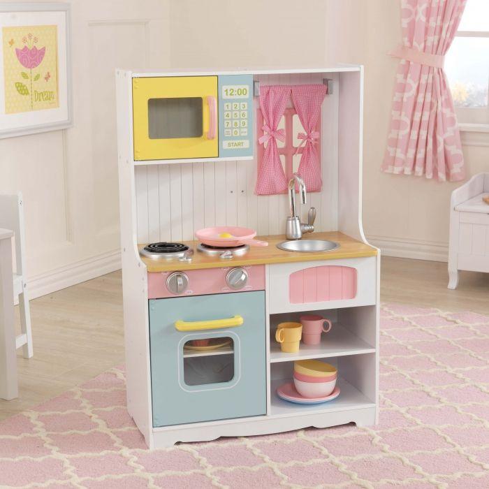 jouets des bois cuisine en bois pastel country kidkraft jouet en bois jouet pinterest. Black Bedroom Furniture Sets. Home Design Ideas