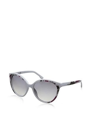 79% OFF Diesel Women's DL009 Sunglasses, White/Black/Magenta