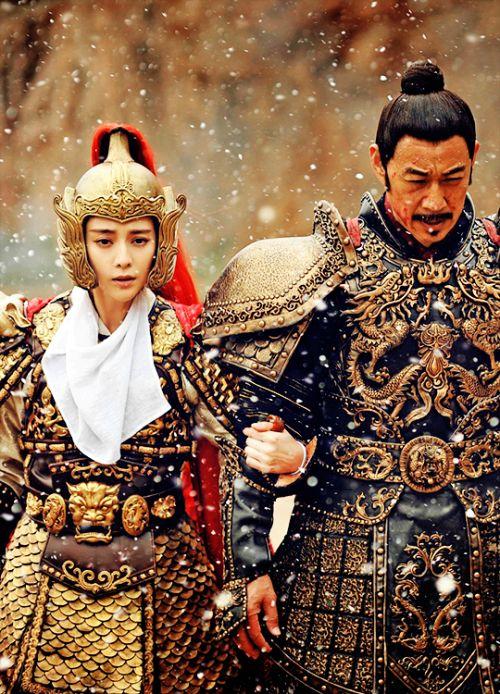 Fan Bingbing & Zhang Fengyi in 'The Empress of China' (2014).