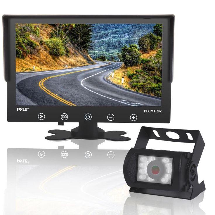 "Backup Camera and Car Monitor, Waterproof, 9"" LCD Display Monitor, Night Vision, Anti Glare, For Truck, Trailer, Vans Reverse Parking, DC 12-24V - PLCMTR92"