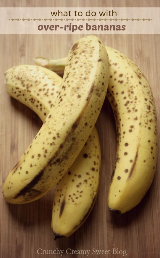 What to do with over ripe bananas from @CrunchyCreamySw