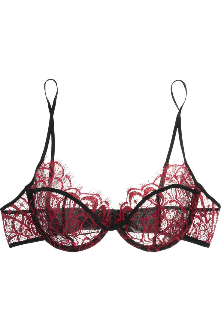 Shop on-sale Kiki de Montparnasse Coquette lace and chiffon balconette bra . Browse other discount designer Lingerie & more on The Most Fashionable Fashion Outlet, THE OUTNET.COM