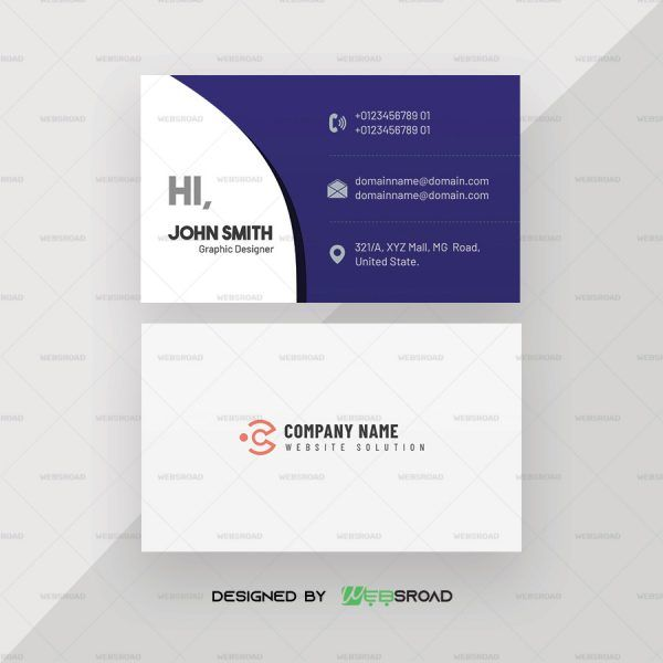 Bomi Corporate Free Business Card Template Websroad Free Business Cards Business Card Template Free Business Card Templates