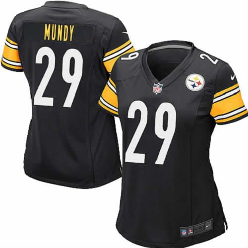 Women Ryan Mundy Pittsburgh Steelers Jersey #29 Black Elite Nike NFL Jersey Sale