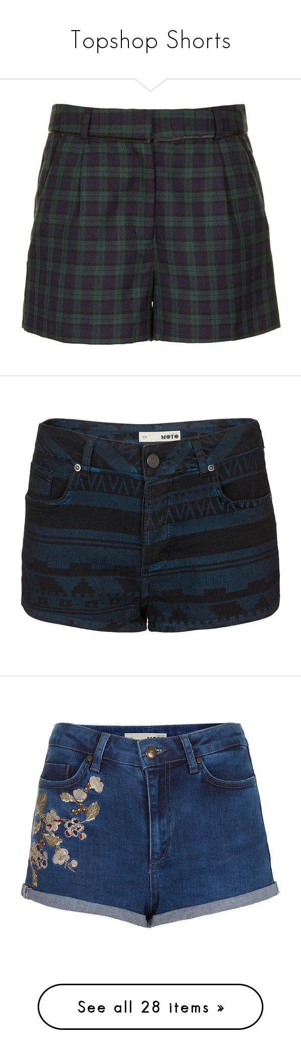 """""""Topshop Shorts"""" by annesuniverse on Polyvore featuring shorts, bottoms, topshop, pants, short, green, topshop shorts, checked shorts, green shorts and short shorts"""
