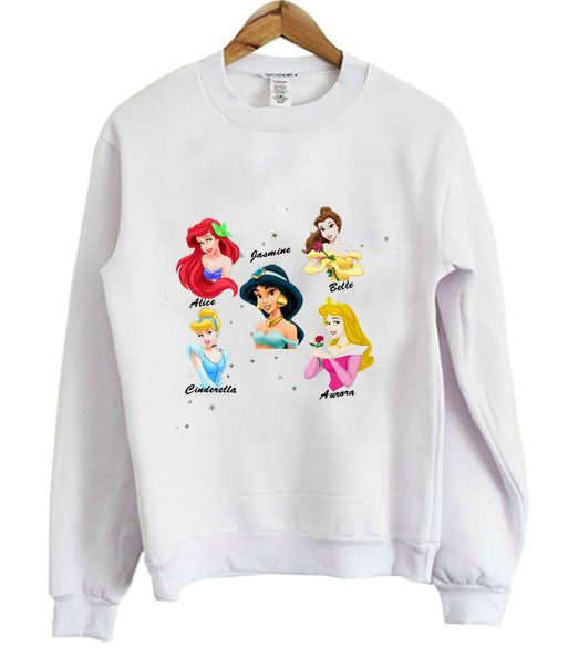 Princess Disney Sweatshirt from clothesmapper.com This sweatshirt is Made To Order, one by one printed so we can control the quality.