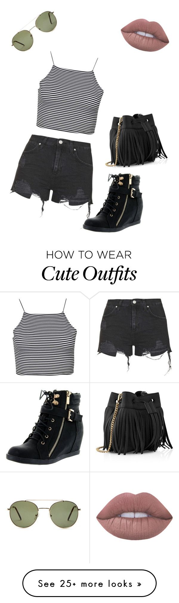 """A cute outfit for SUMMER☀️"" by abarnes2022 on Polyvore featuring Forever 21, Boohoo, Topshop, Top Moda, Lime Crime and Whistles"