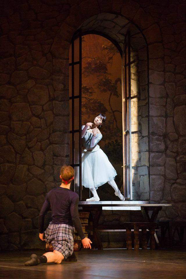 La Sylphide stage rehearsal, Aliya Tanykpayeva & Zoltán Oláh, Hungarian National Ballet Company