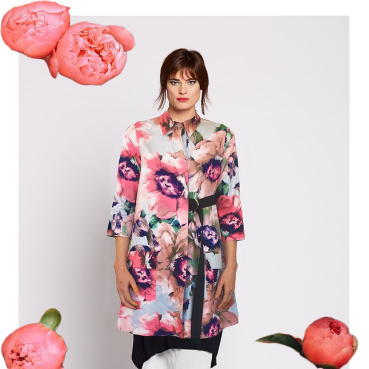 PEONIE ROSE PRINT: Feminine floral in unexpected tailored asymmetric designs. Featured in the following 4 styles...