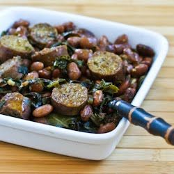 Crockpot Recipe for Sausage, Beans, and Greens: Kitchens, Crock Pot, Sausages, Collard Greens, Beans, Crockpot Recipe, Crockpot Sausage