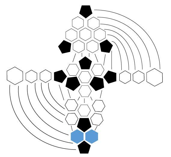 En total hay 32 flores africanas:     22 hexágonos (6 bordes) en ag de ganchillo tamaño 3 (C / D)   10 pentágonos (5) en los bordes de...