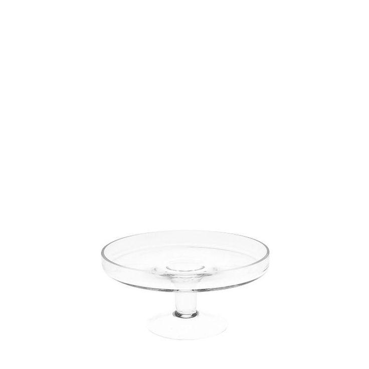 Tortenplatte Glas auf Fuss klar ca D:20 x H:9 cm