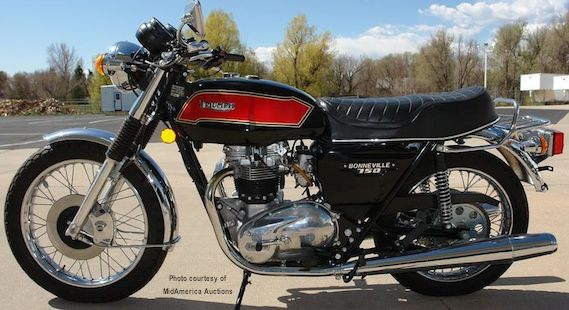 1979 Triumph Bonneville T140E. i owned this one in 1982. a 21 year old should never own a bike like this.
