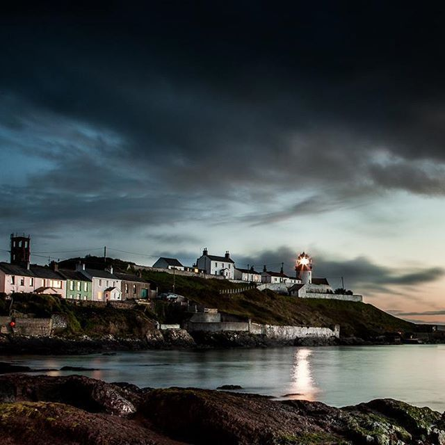 Roches Point Lighthouse at the entrance to Cork Harbour in Ireland photographed in evening light.  #photography #picture #picoftheday #photooftheday #pic #photographs #Cork #Ireland #lighthouse #light #sea #ocean #@ creedonphoto #colour #color #harbour