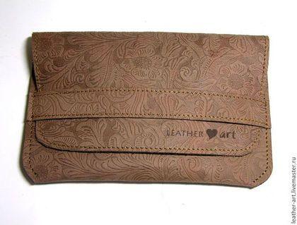 Кожаный чехол для планшета Цветочный - коричневый,цветочный,чехол,кожаный чехол