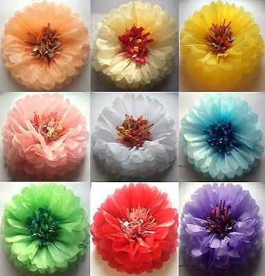 10/20 Wall Flower Paper Pompoms 4 Sizes Pom Poms Balls Wedding Party Decorations