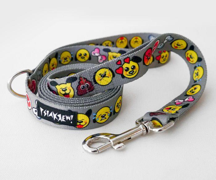 Smycz dla Psa Dog Emoticon szerokość 2 cm – Cena | sklep internetowy Psiakrew