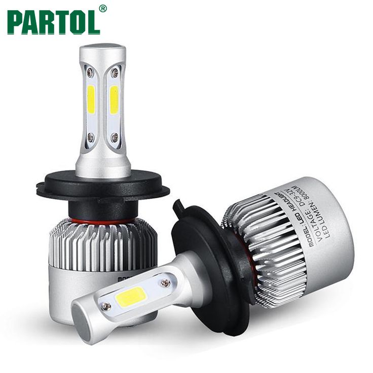 Partol S2 H4 H7 H13 H11 H1 9005 9006 H3 9004 9007 9012 COB LED Headlight 72W 8000LM Car LED Headlights Bulb Fog Light 6500K 12V //Price: $300.00      #techie